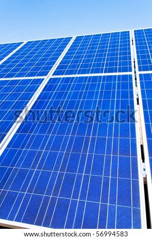 Renewable, alternative solar energy. Solar power plant. - stock photo