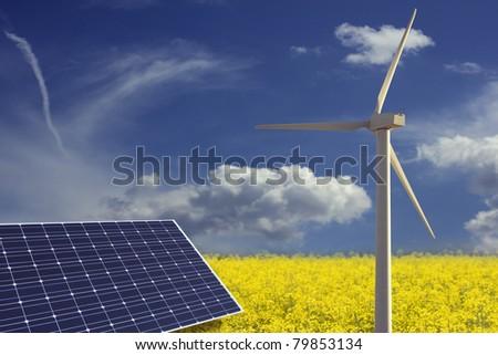 renewable energies concept - stock photo