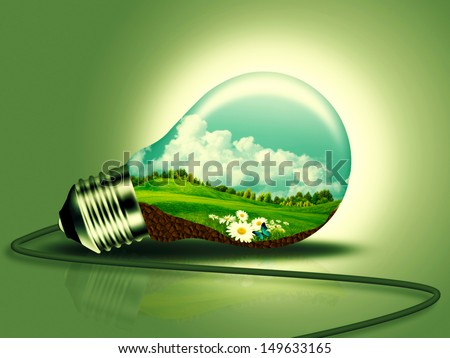Renewable energy concept for your design - stock photo