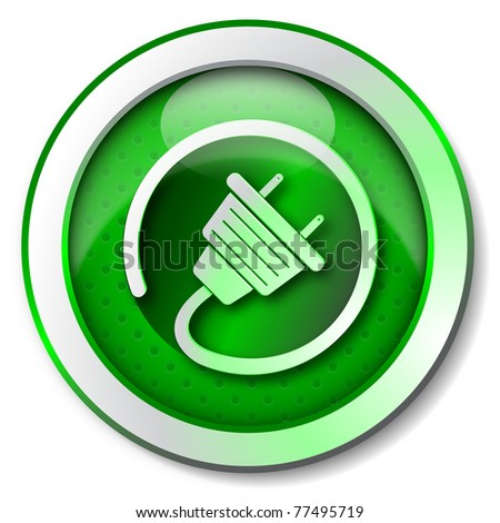 Renewable energy icon - stock photo
