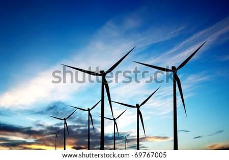 Renewable energy source - stock photo