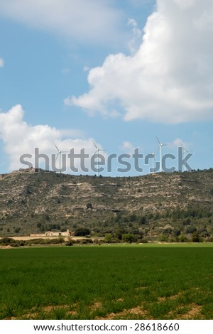 Renewable energy: wind power in a spanish landscape