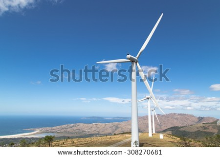 Renewable energy, windmills - stock photo