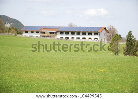 Renewable energy with photovoltaic system on a farm