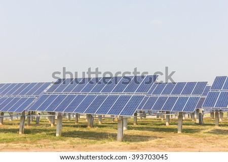 renewable solar energy Power plant : The concept of renewable energy. Clean energy Environmentally friendly The solar farm. - stock photo