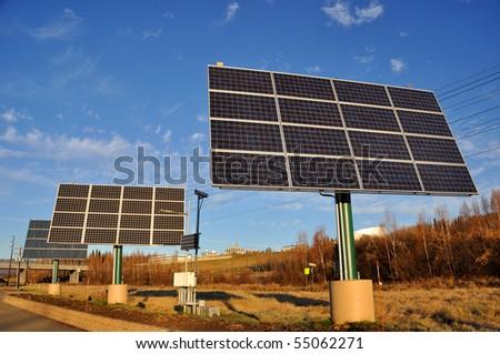 Renewable Solar Power Energy Panel - stock photo