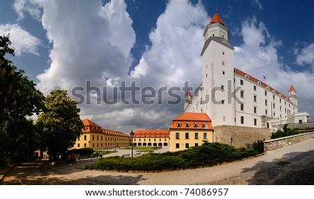 Renewed Bratislava castle, Slovakia - stock photo