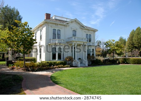 Rengstorff House, Shoreline Park, Mountain View, California - stock photo