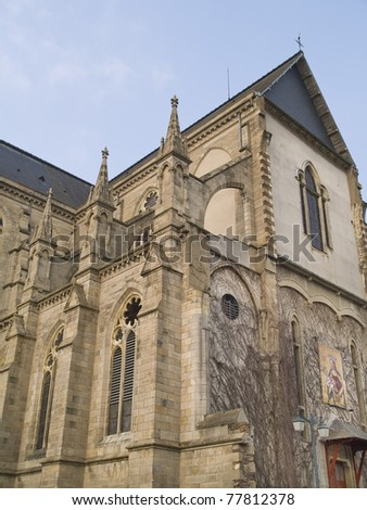 Rennes is a city in the east of Brittany in north-western France. Rennes is the capital of the region of Brittany.Urban view. - stock photo