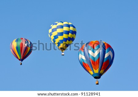 RENO, NEVADA USA - SEPTEMBER 10: The Great Reno Balloon Race on September 10 2011, in Reno Nevada. It is the largest free hot air ballooning event in the nation.