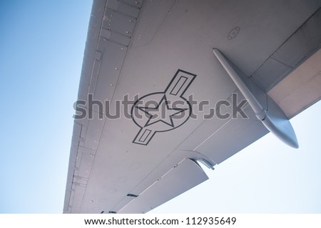RENO, NV - SEPTEMBER 15, 2012:  Airplane   on display  during the annual Air Races on September 15, 2012 in Reno, Nevada - stock photo