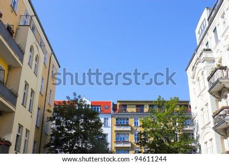 renovated buildings - stock photo