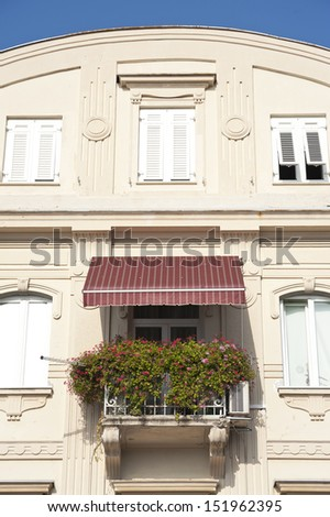 Renovated old building - stock photo