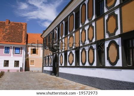 renovated old house in Varazdin, Croatia - stock photo