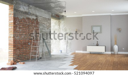 Superb Renovation Interior. 3D Render