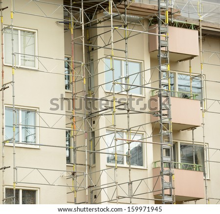 Renovation of building - stock photo