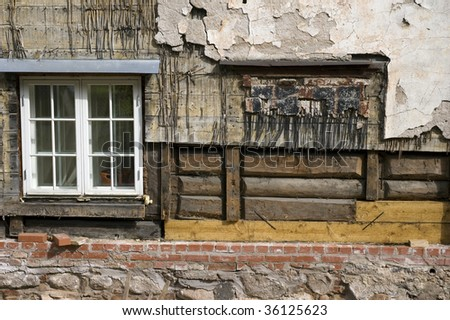 renovation old house - stock photo