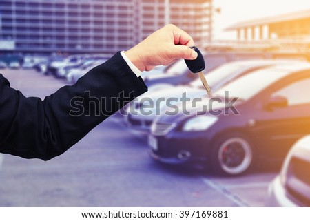 rent a car concept background - stock photo