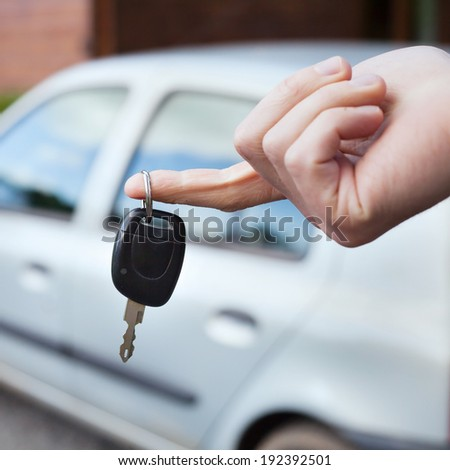 rent car - stock photo