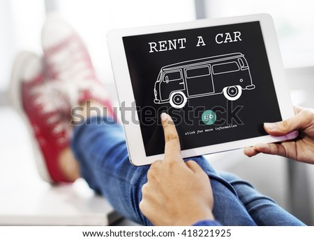Rent Car Borrow Available Lease Renting Rental Concept - stock photo