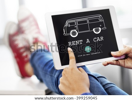 Rent Car Borrow Available Renting Rental Concept - stock photo