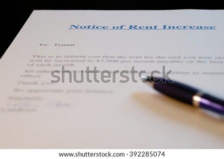 Rent Increase Notice Stock Photo   Shutterstock