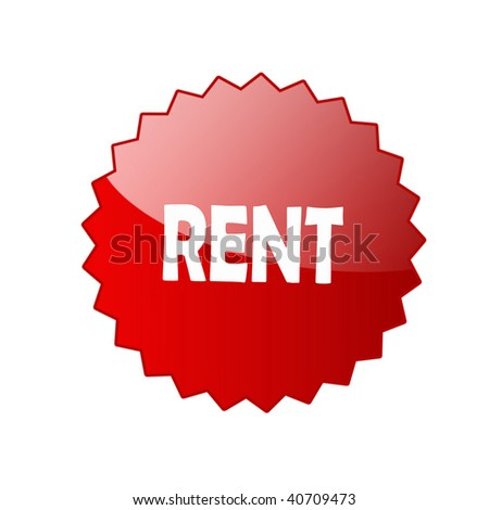 Rent sign - stock photo