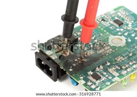 Repair and diagnostic electronics. - stock photo