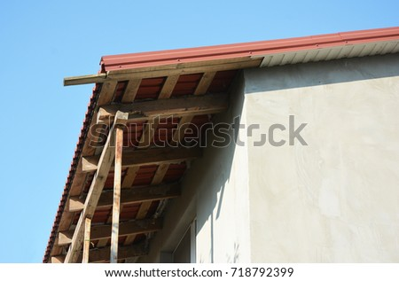 Repair And Installing House Roof Eaves, Soffits And Fascia Boards.