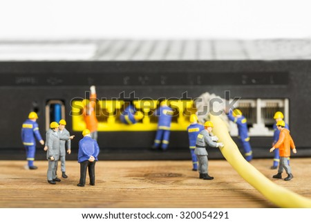 Repair and maintenance your system with small model Engineer. - stock photo