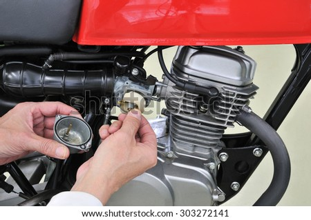 Repair of motor cycle