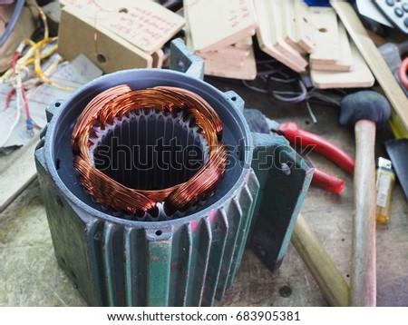 Ac generator stock images royalty free images vectors for Ac electric motor repair