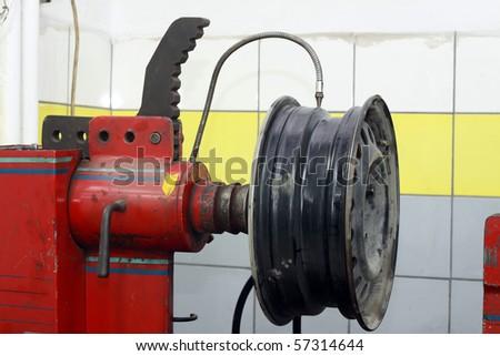 Repair or change tires - stock photo