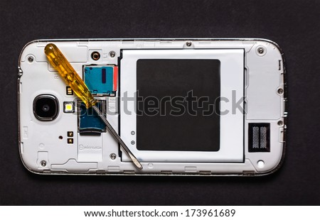 repair smart phone electronic background - stock photo