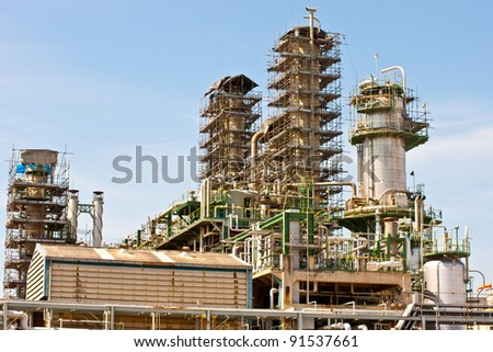 Repair the refinery plant - stock photo