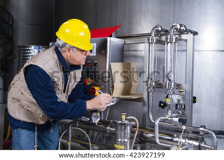 repairman at maintenance work