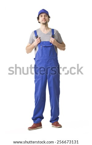 Repairman Smiling Portrait.