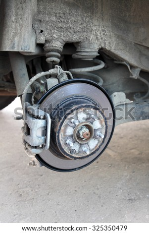repairs to the braking system of the car