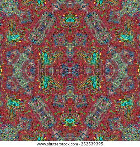 Repeating abstract kaleidoscopic colorful background