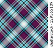 Repeating blue-violet checkered diagonal pattern with translucent squares - stock photo