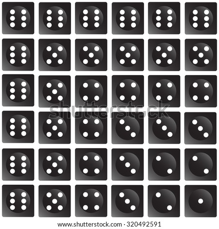 Repeating dice on a wallpaper effect