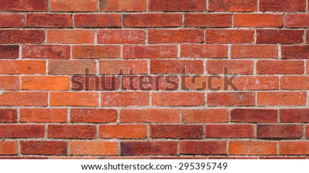 Repeating red brick wall texture typically found in developed areas, often around the back of buildings in cities. The file is a loop ready seamless texture file, allowing the picture to be tiled. - stock photo