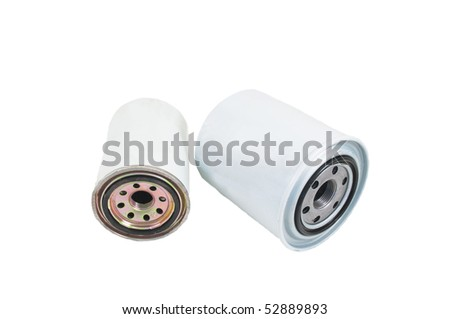 Replaceable oil filters for service of the engine of the car - stock photo