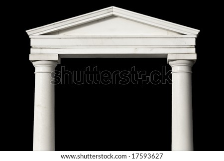 Replica and detail piece of an ancient Greek temple - stock photo