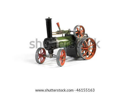Replica of an old steam tractor that works on the same principle.