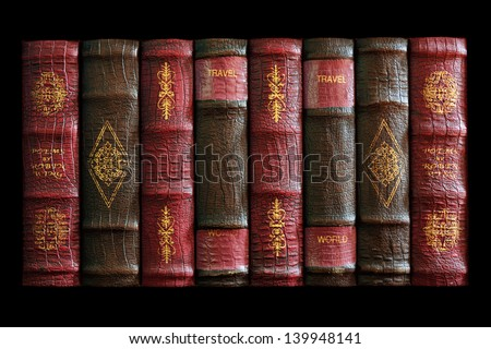 Replica of old books photographed in natural light.