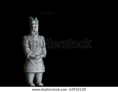 replica of unearthed terra cotta warrior