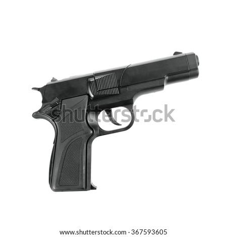 Replica toy gun / fake guns isolated on white - stock photo