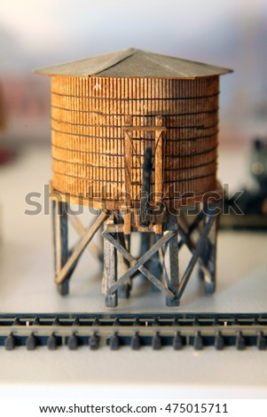 Replica water tower made for model train