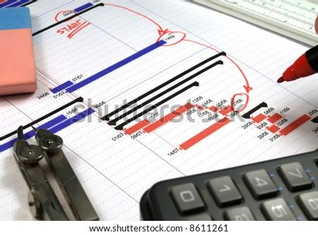 report analysis - stock photo